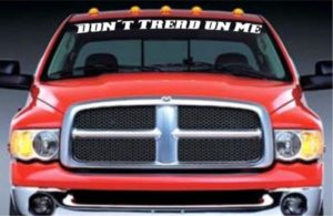 Dont Tread On Me Windshield Decal