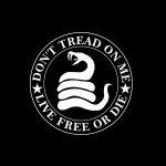 Don't tread on me live free Gadsden Window Decal Sticker