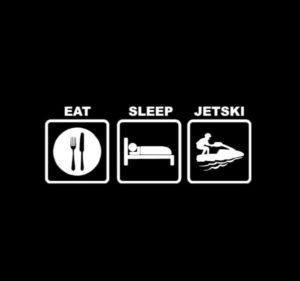 Eat Sleep Jet Ski Decal Sticker