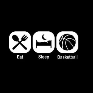 Eat Sleep Play Basketball Decal Sticker