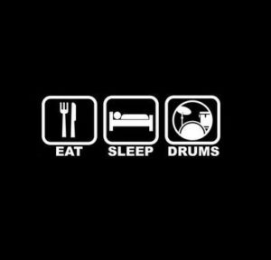 Eat Sleep Play Drums Decal Sticker