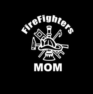 Firefighters Mom Crest Decal Sticker