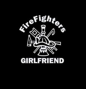 Firefighters Girlfriend Crest Decal Sticker