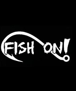 Fish on hook Decal Sticker a3