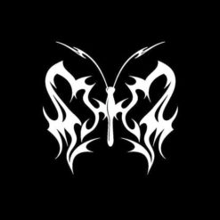 Flaming Butterfly Decal Sticker