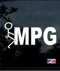 Fuck MPG Decal sticker