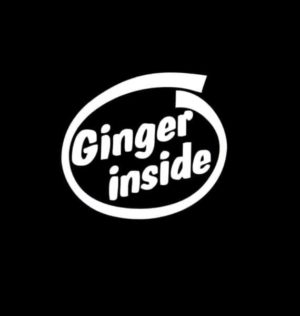 Ginger Inside Funny Decal Sticker