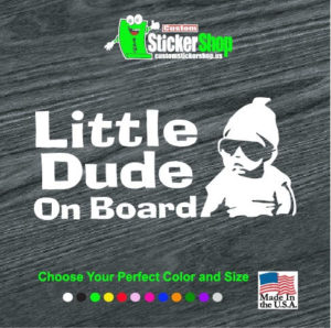 hangover little dude baby on board decal sticker