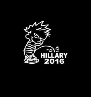 Piss on Hillary Clinton Decal Sticker a2