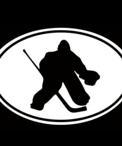 Hockey Goalie Oval Window Decal