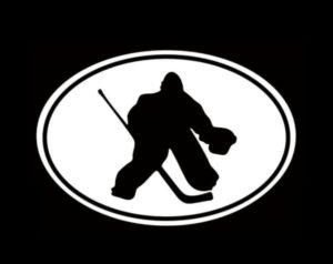 Hockey Goalie Oval Window Decal