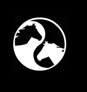 Horse head ying yang Decal Sticker