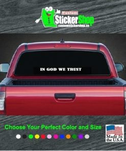 in god we trust rear window decal sticker
