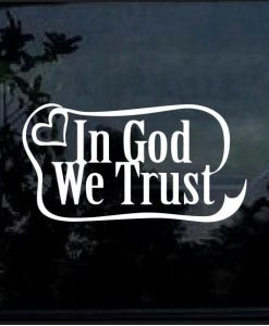 in god we trust ribbon decal sticker