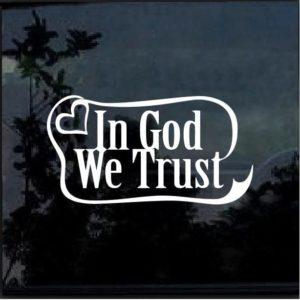 in god we trust ribbon decal sticker