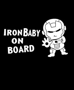 Baby Ironman on board decal sticker