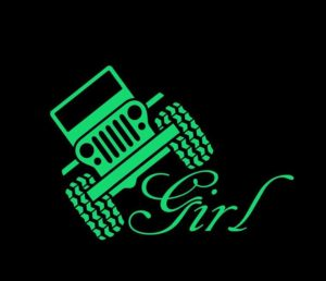 Jeep Girl Decal a3