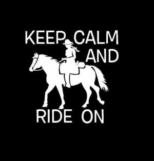 Keep Calm and ride on Horse Decal sticker