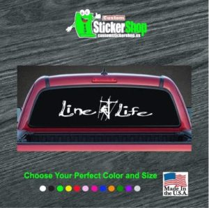 line life lineman rear window decal sticker