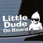 Hangover Little Dude Baby On Board Sign