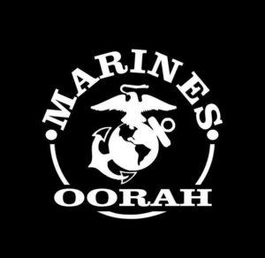 Marines oorah Decal Sticker