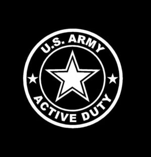 US Army Active Duty Decal Sticker