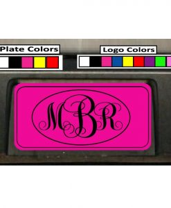 Oval Monogram Initials Custom License Plate