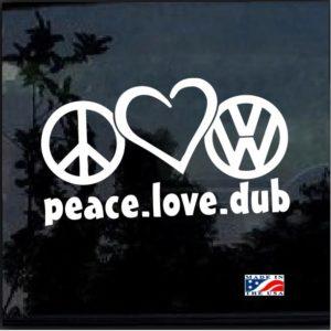 peace love dub Volkswagen decal sticker