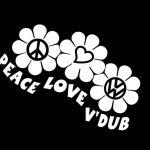 Peace Love VW Volkswagen Window Decal Sticker A2