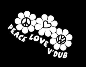 Peace Love VW Volkswagen Decal Sticker a2
