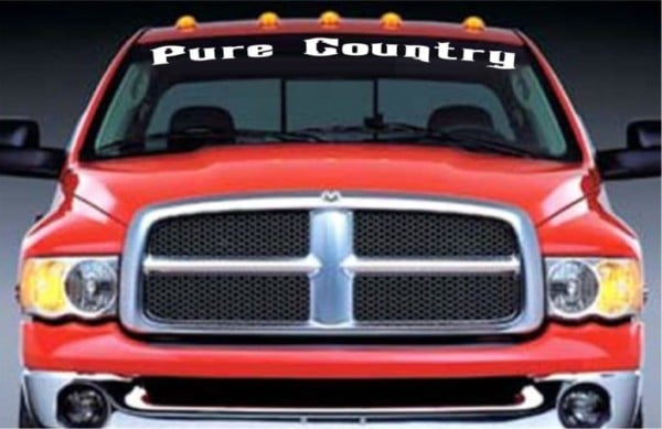Pure Country Window Decal Stickers Custom Sticker Shop - Car windshield decals custom