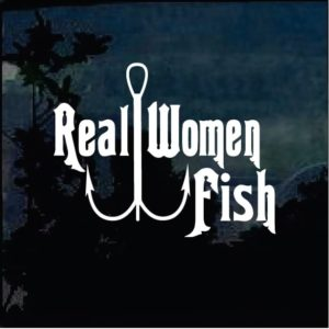 real women fish decal sticker