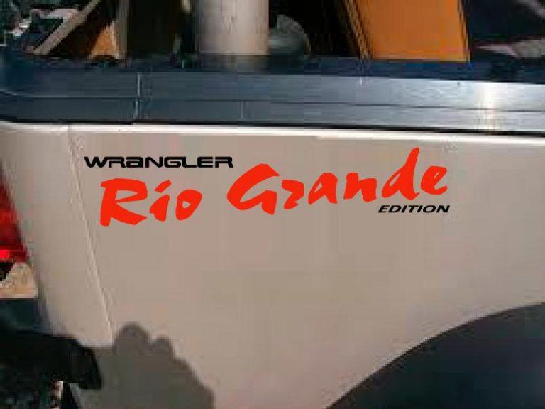 Jeep Rio Grande Rear Quarter Decals