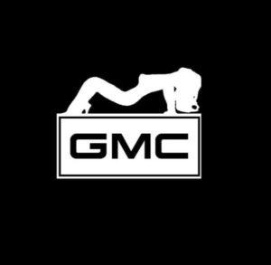 GMC Sexy Mudflap Girl Decal Sticker