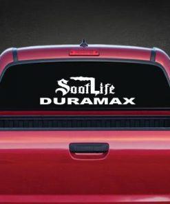 Soot Life Duramax Rear Window Decal