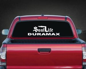 Soot Life Duramax Rear Window Decal