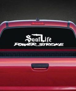 Soot Life Power Stroke Rear Window Decal