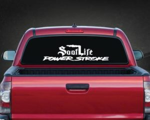 Soot Life Power Stroke Rear Window Decal