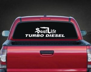 Soot Life Turbo Diesel Rear Window Decal