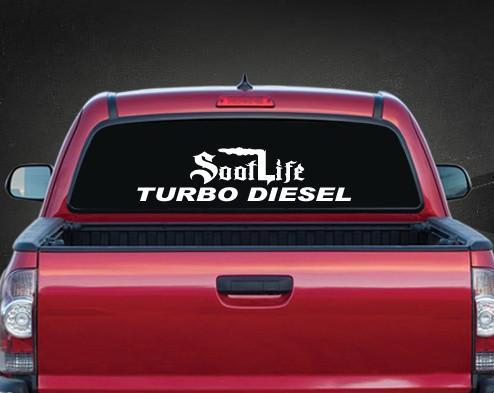 Soot Life Turbo Diesel Rear Window Decal