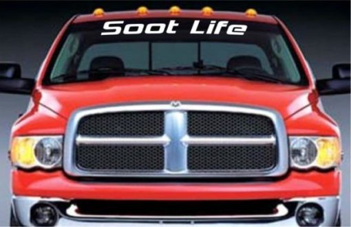Soot Life Diesel Windshield Decal