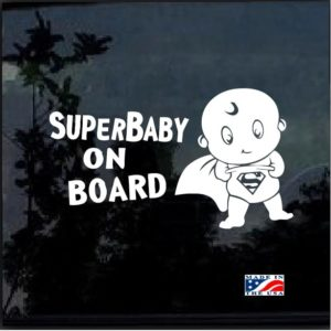 super baby on board decal sticker