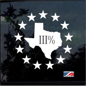 texas 3 percenter decal sticker