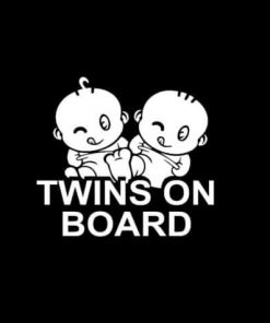 Twins on board decal sticker