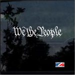 We the People Window Decal Sticker