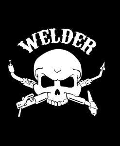 Welding Welder Skull torch decal sticker