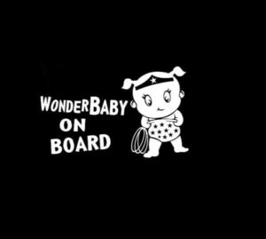 Wonder woman Baby On Board decal sticker