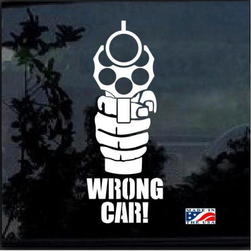 wrong car window decal sticker