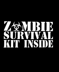 Zombie Survival Kit Inside Decal Sticker