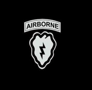 25th Infantry airborne Decal Sticker